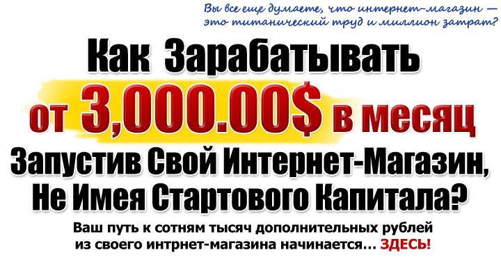 332ee4304584 Как зарабатывать от 3000  в месяц, запустив свой интернет-магазин не ...